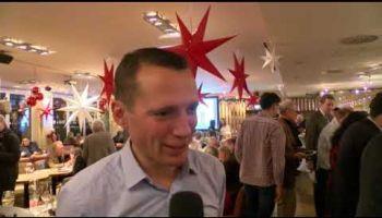 Henk Grewe im Interview beim Grünkohlessen des Hamburger Renn-Clubs.